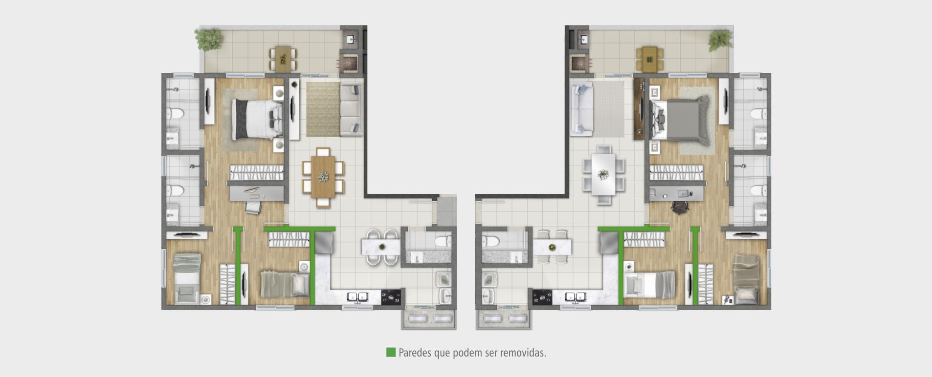 Apartamento 101,30 m²